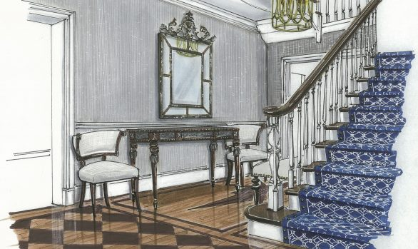 STEPHENS COLLEGE PRESIDENT'S HOUSE | ENTRY HALL