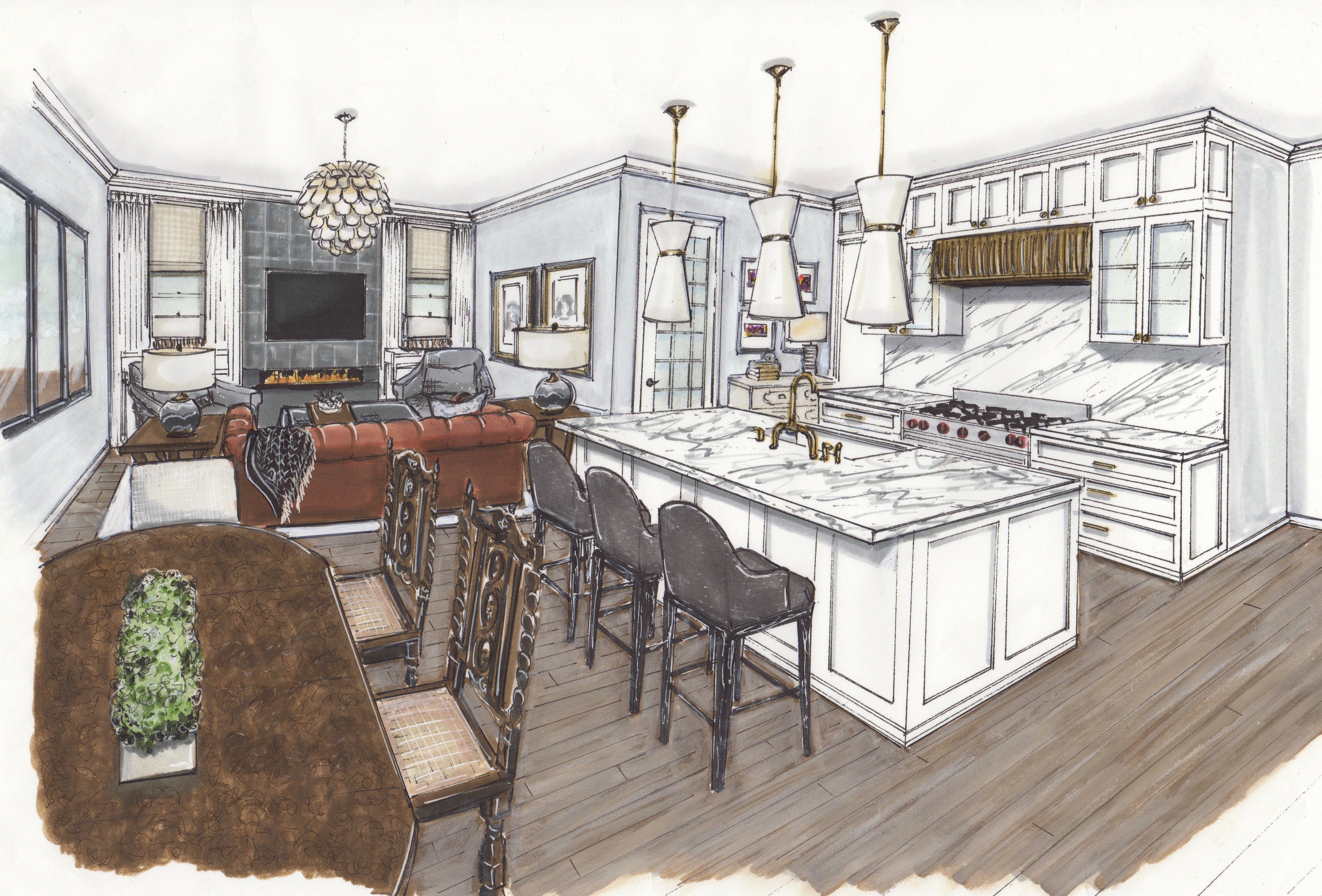 PRIVATE RESIDENCE WITH ENGLISH ANTIQUES | KITCHEN-HEARTH ROOM
