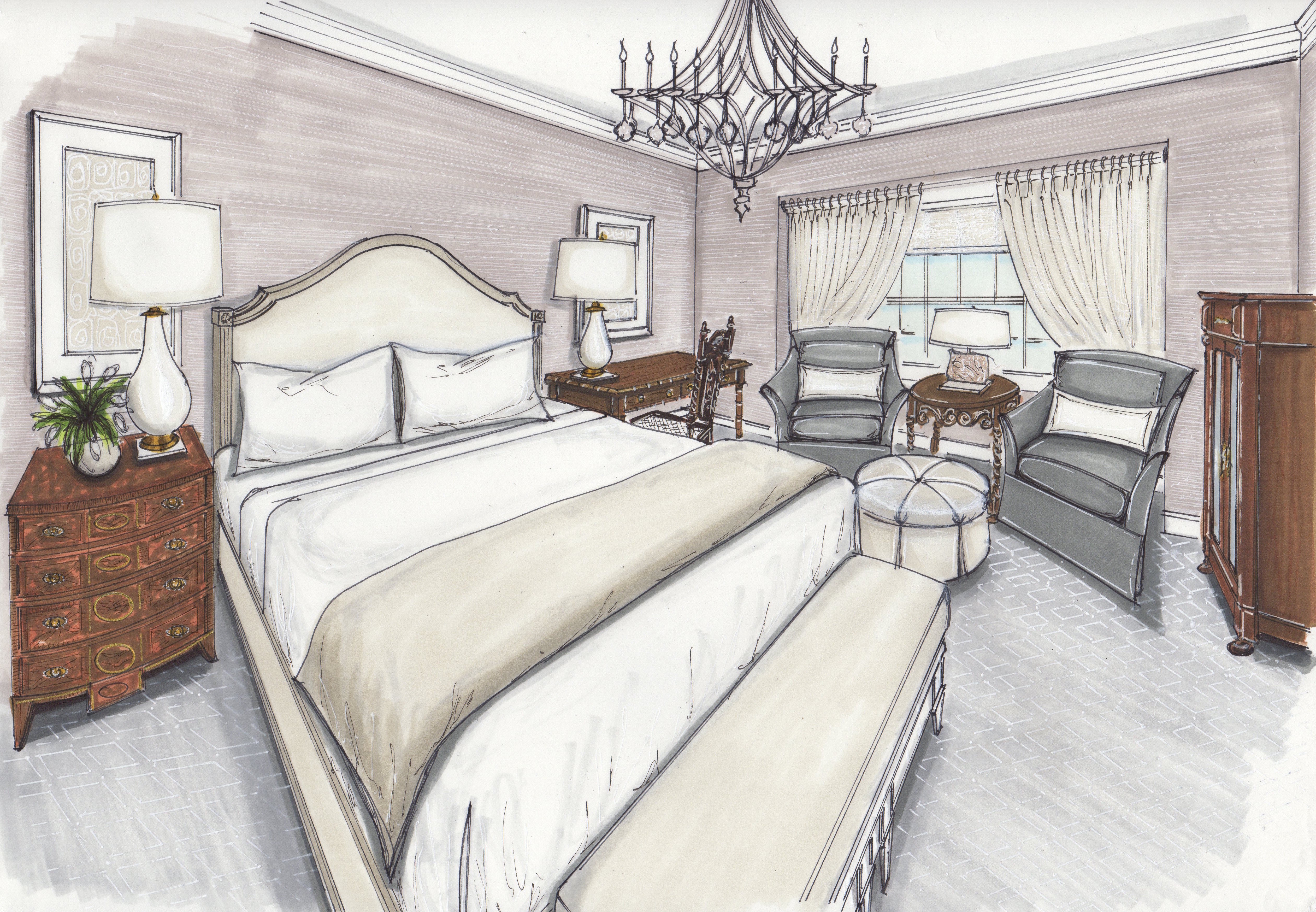 PRIVATE RESIDENCE WITH ENGLISH ANTIQUES | MASTER BEDROOM